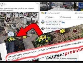 Laszlo Balazs - Dezinformare și instigare la ură după profanarea unor morminte la Satu Mare