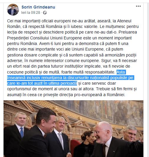 """ScreenShot 20190112144827 - Si Sorin Grindeanu cere sa renunțăm la """"Naționalism"""""""