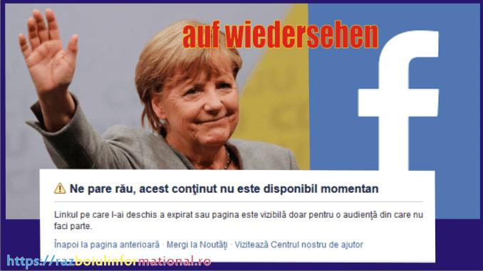 Angela Merkel si-a închis contul de FaceBook