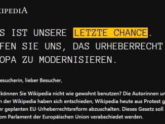 ScreenShot 20190321212314 - Astăzi Wikipedia și-a închis situl pentru utilizatorii de limba germană