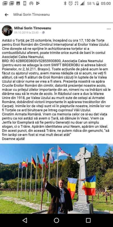 cfcfgc mihai 512x1024 - Naţionalişti merg pe 25 octombrie la Valea Uzului, manipulările continuă