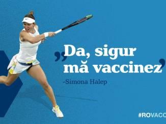 Simona Halep se vaccinează