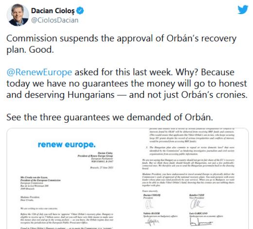 ScreenShot 20210711042615 300x271 - Fake News cu Dacian Cioloș privind PNRR-ul Ungariei unde sunt fact-check-rii ?