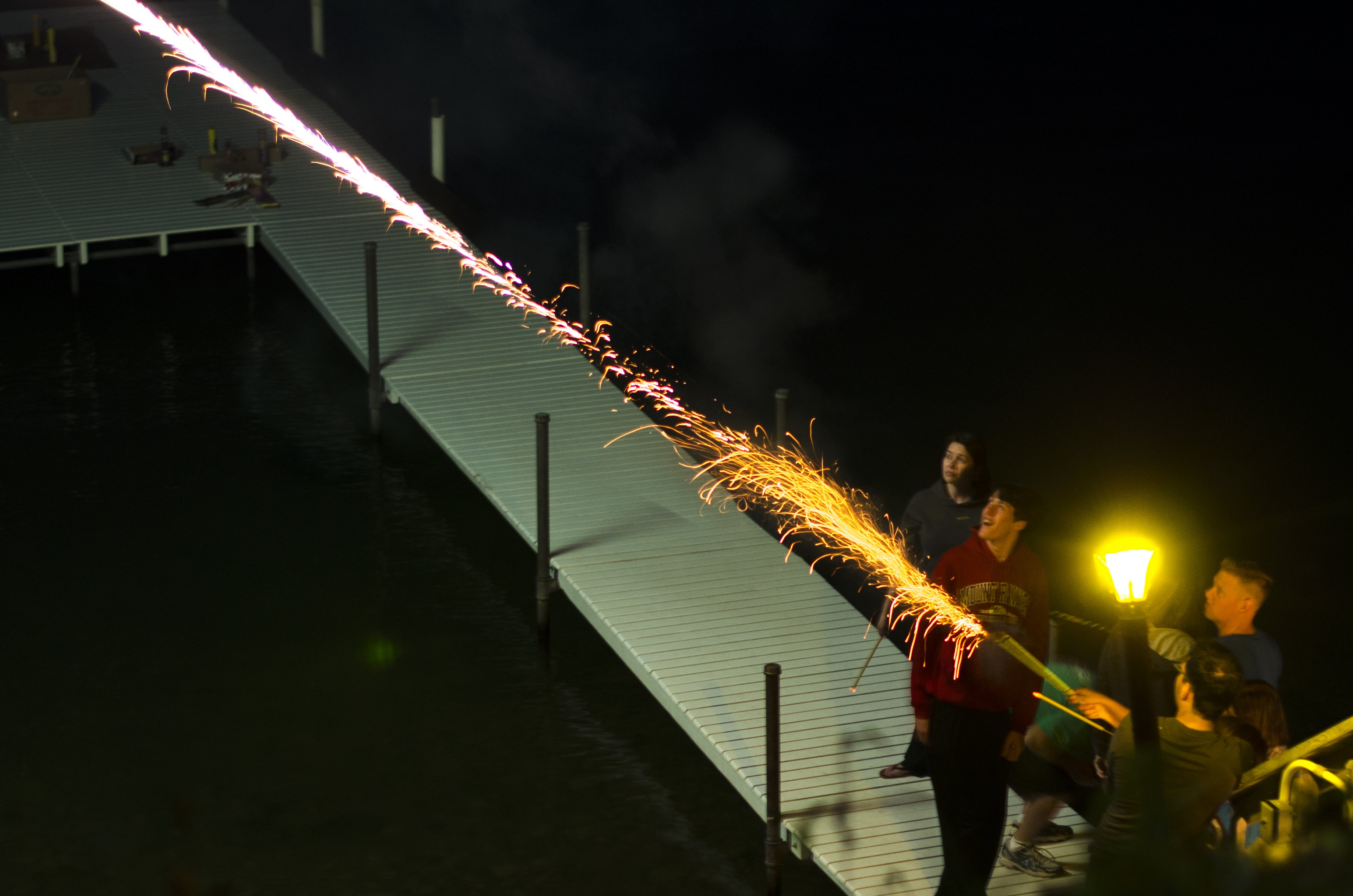 Fireworks off the dock