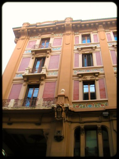 Classical facades in Florence, Italy
