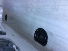 """The wall panel will float 1/4"""" above the floor and cover any caulking imperfections."""