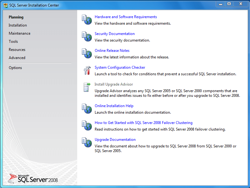 How to Install SQL server 2008 on Windows 7 (1/6)