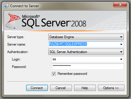 SQL Server 2008 Basics & Connection with VS2010 (2/6)