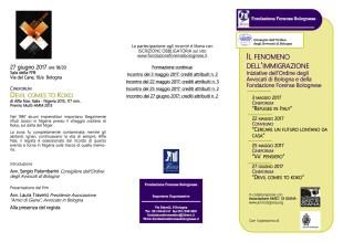 proiezioni per FFB e il COA - 2locandina completa