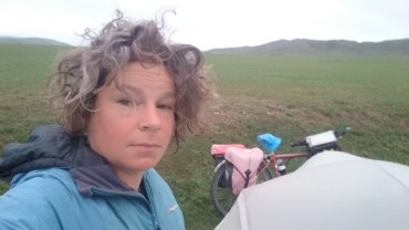 Last morning camping with Frank - he won't miss that bedraggled bedhead at breakfast each day!