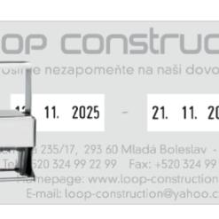 Colop 3960 DD Expert Line Microban, 2x datum, dvoudatum datumovka, datumové razítko, 4mm