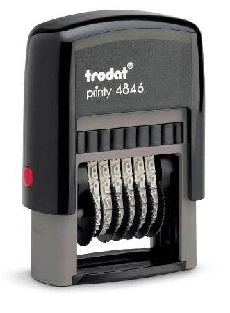 Razítko Trodat 4846, 6 míst, 4mm, číslovačka