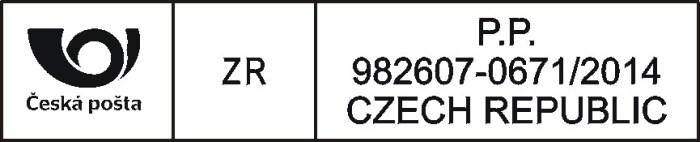 Poštovní razítko pro označování zásilek - delší