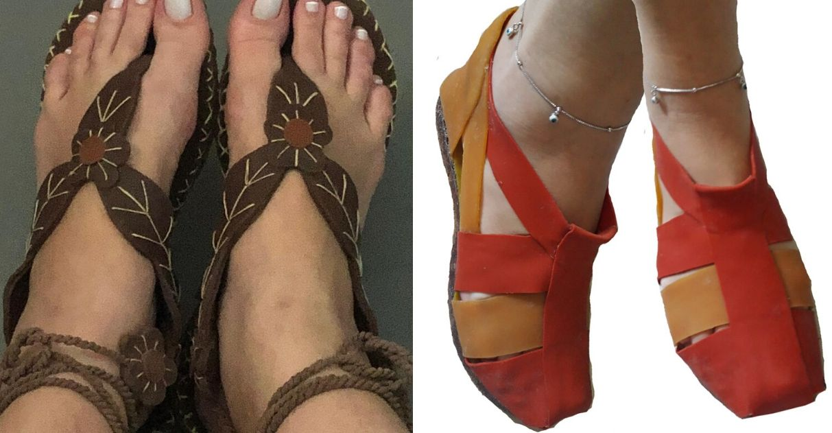 Indígenas produzem sandálias com látex da Amazônia e vendem pelo WhatsApp