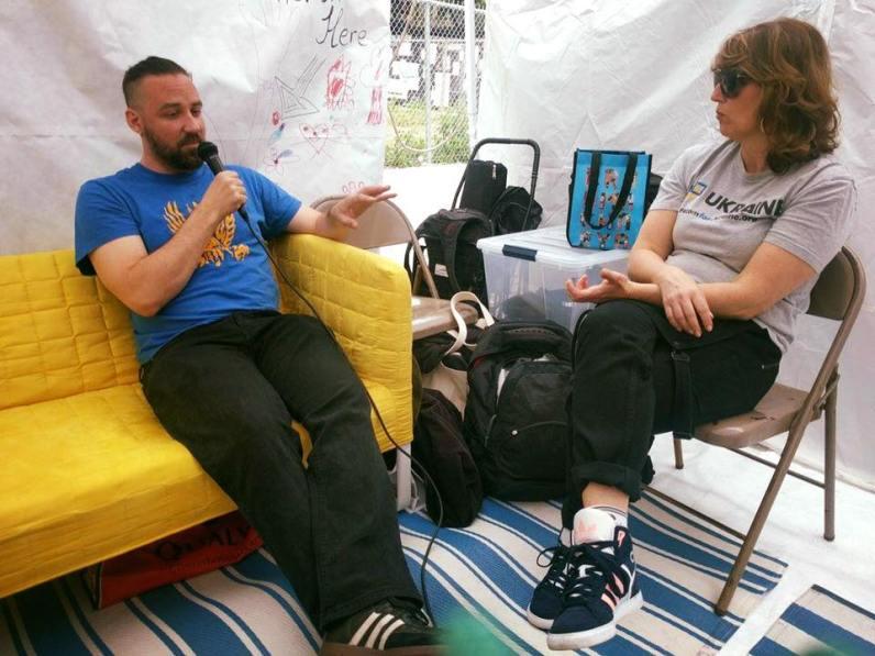 Tamara Lashchyk leads conversation with filmmaker Damian Kolodiy