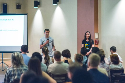 Taras Galkovskyi and Tetyana Dzhula gave an update about the work of Project OKO which monitors media coverage of Ukraine in multiple languages. Volunteers assemble daily reports that are used by analysts and policy makers.