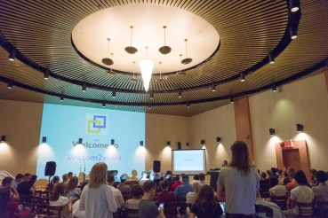 Over 140 people attended the Annual Meeting at the Ukrainian National Home. More people watched the live stream on the Razom You Tube channel. (Due to a glitch with YouTube, however, only a portion of the video stream is archived for viewing.)