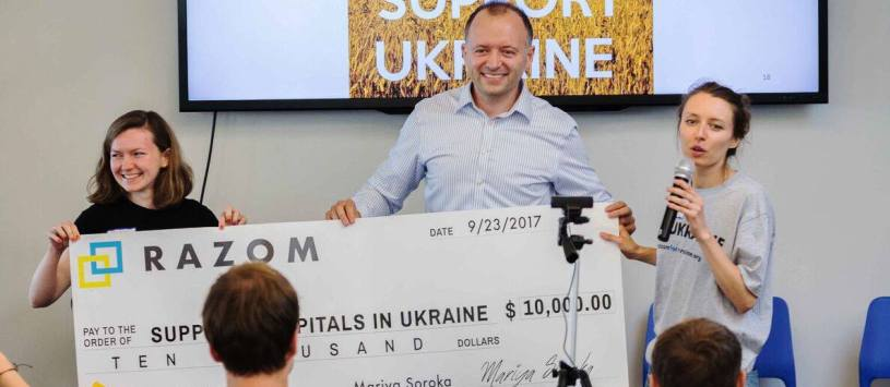 $10 000 grant went to Support Hospitals in Ukraine