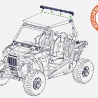 Polaris RZR Roof Air Foil (Cab / Bed Dust & Airflow