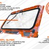 Polaris RZR folding glass windshield guide and how to graphic