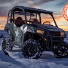 Snow trail riding with the General Purpose Cargo Rack for the Polaris General 1000
