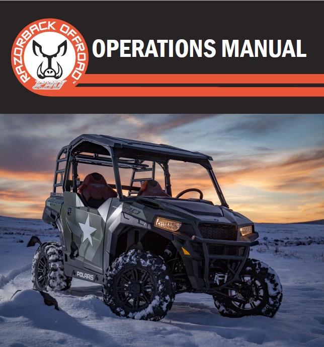 Operations manual for polaris General