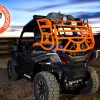 Door closed on Expedition Sherpa Cargo Rack for the Polaris RZR 900