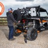 Spare Tire Ultimate Gun Rack and Grab Hanlde Lug Wrench for UTV and Side by Side