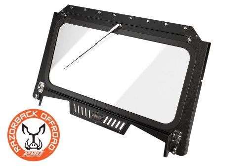 Front Folding Glass Windshield for Polaris RZR 1000 Black