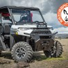 Field work and outdoor travel with the Polaris Ranger front folding glass windshield and utility rack