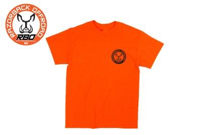 RBO Orange Short Sleeve T-shirt w/Round Logo Front