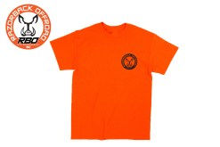 RBO Orange Short Sleeve T-shirt w/Round Logo Front