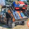 Raised Bed filled with supplies on the Arctic Cat Prowler UTV Rear Utility Rack
