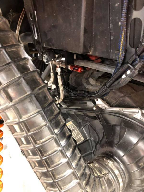 Exhaust Wiring and Routing for Polaris RZR Turbo S Custom UTV SEMA Build