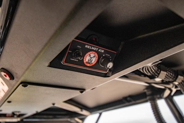 Overhead Console Helmet Controls for Polaris RZR Turbo S Custom UTV SEMA Build