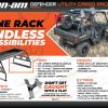 RBO1101 Razorback Offroad Polaris General Rack Spare Tire Mount Flyer