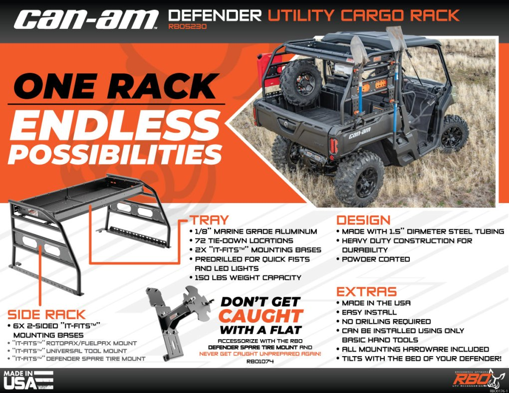 RBO-Can-Am-Defender-Utility-Cargo-Rack-Features-And-Benefits