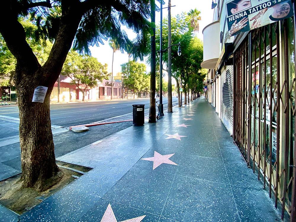 Hollywood Blvd at 8 A.M.