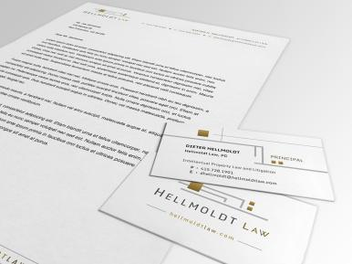 Hellmoldt Law Letterhead and Business Cards