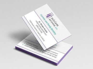 Miriam Acosta DDS Business Cards