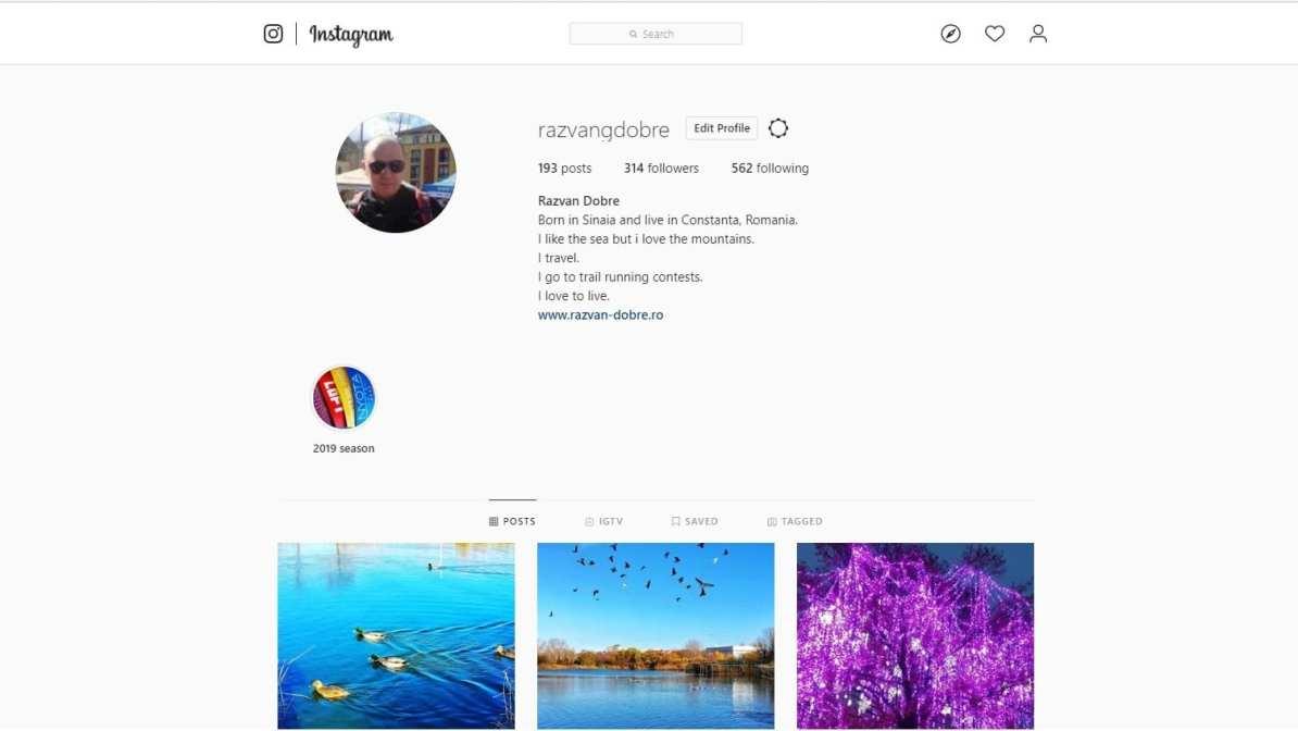 Instagram Razvan Dobre