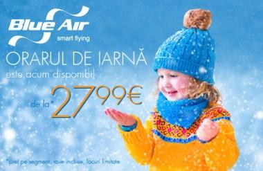 Blue Air - Orar Iarna 2015-2016