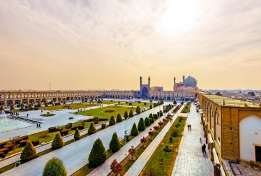 Imam Square viewed from Ali Qapu in Isfahan