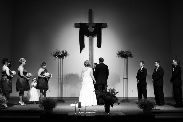 wedding ceremony Northbrook Baptist Church Cedar Rapids Iowa