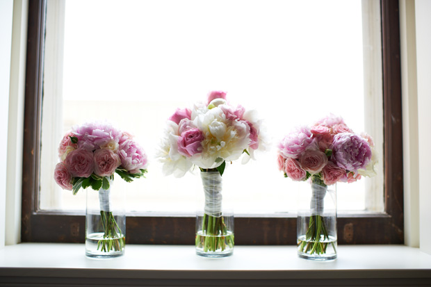peonies bouquets for the bride and bridesmaids