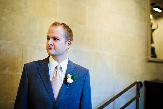groom waiting for the ceremony to start