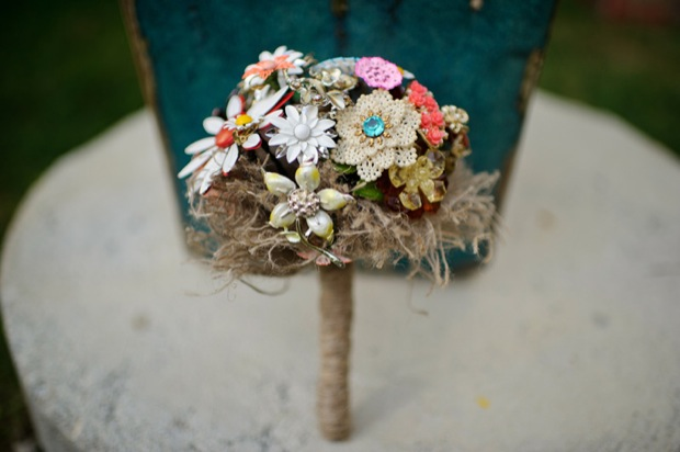 bouquet made of brooches