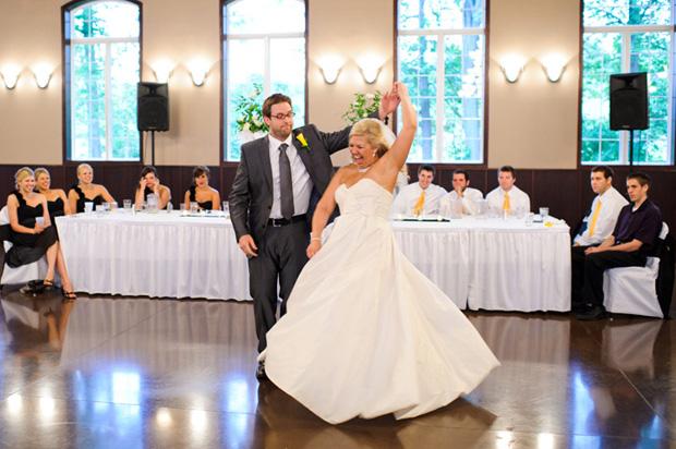 Choreographed wedding first dance