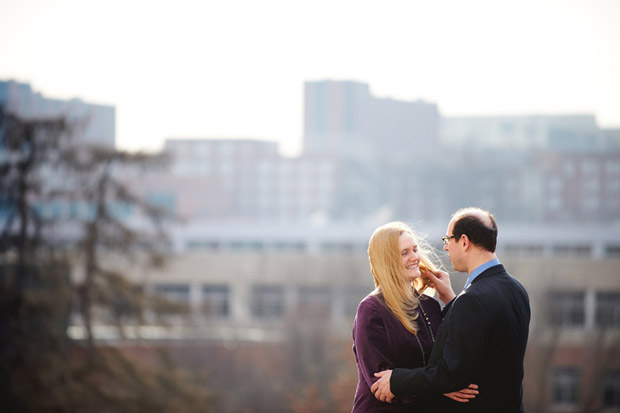 Engagement photos in Iowa City