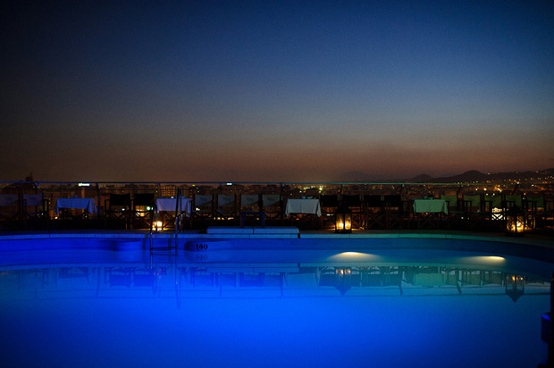 Rooftop pool at AC Malaga hotel